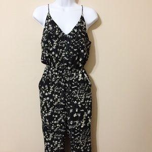h&m • floral jumpsuit